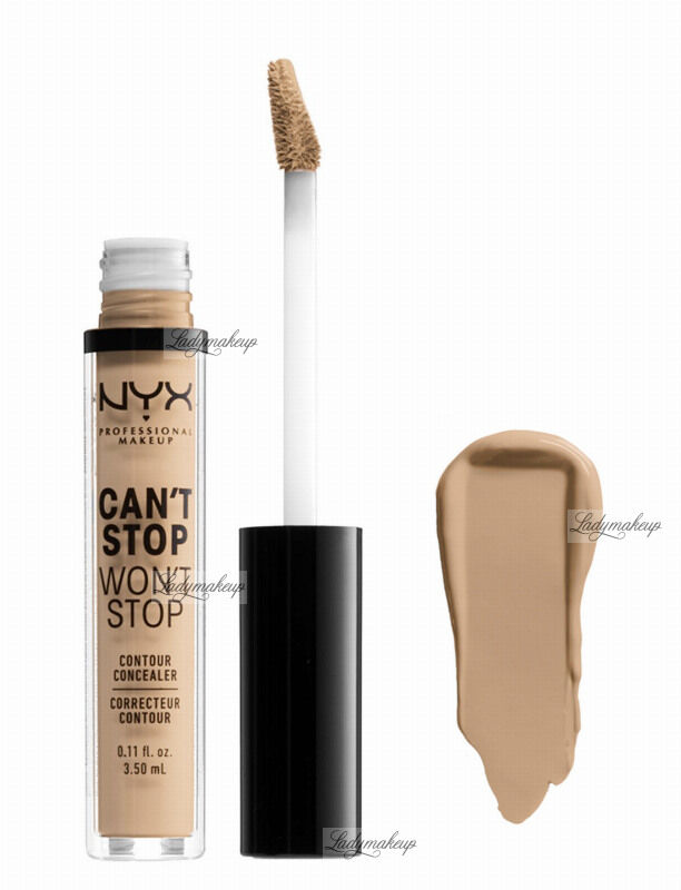 NYX Professional Makeup - CAN''T STOP WON''T STOP- CONCEALER - Korektor w płynie - MEDIUM OLIVE
