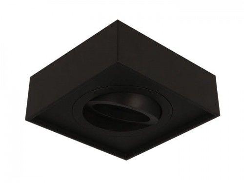 Oprawa sufitowa wpuszczana kwadratowa ruchoma GU10 230V CUBO MIDI - czarny mat