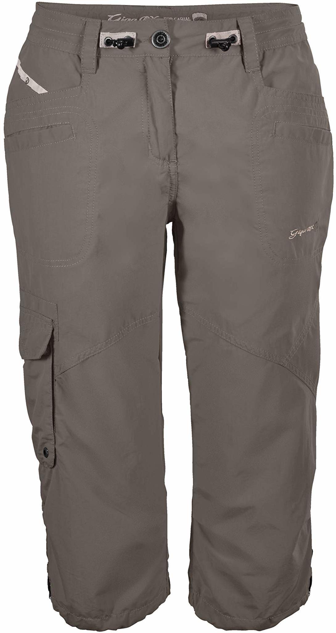 G.I.G.A. DX damskie spodnie typu Capri, 3/4 spodnie cargo na lato, regulowana szerokość w talii beżowy szampański 34