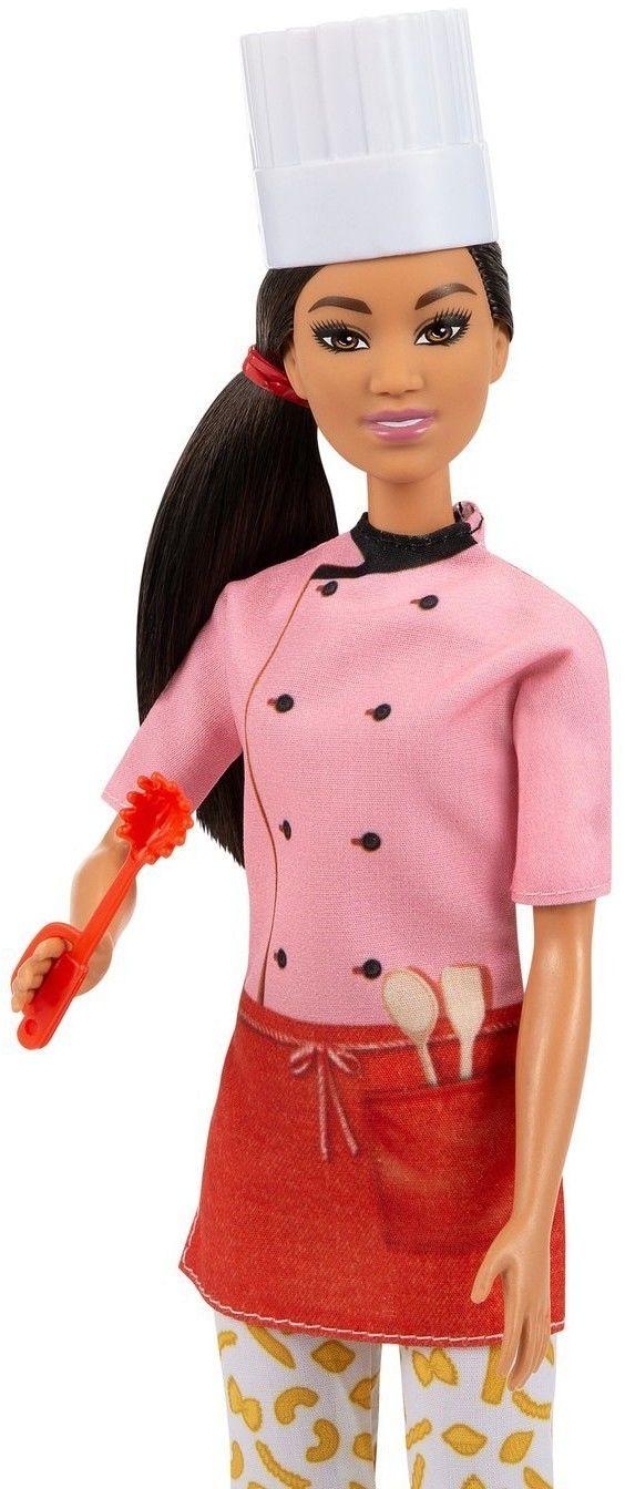 Barbie I Can Be Kariera Lalka Mistrzyni makaronu kucharz GTW38