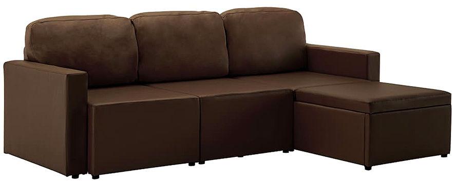 Rozkładana sofa modułowa brązowa - Lanpara 4Q