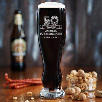 Wszystkiego najlepszego - Grawerowana Szklanka do piwa