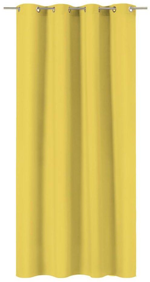 Zasłona Pharell żółta 140 x 280 cm na przelotkach Inspire