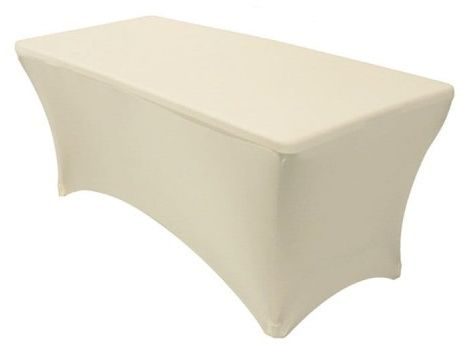 Pokrowiec elastyczny na stół bankietowy 240x76 cm Ecru
