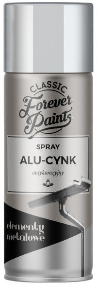 Spray antykorozyjny Forever Paints 400 ml aluminium-cynk