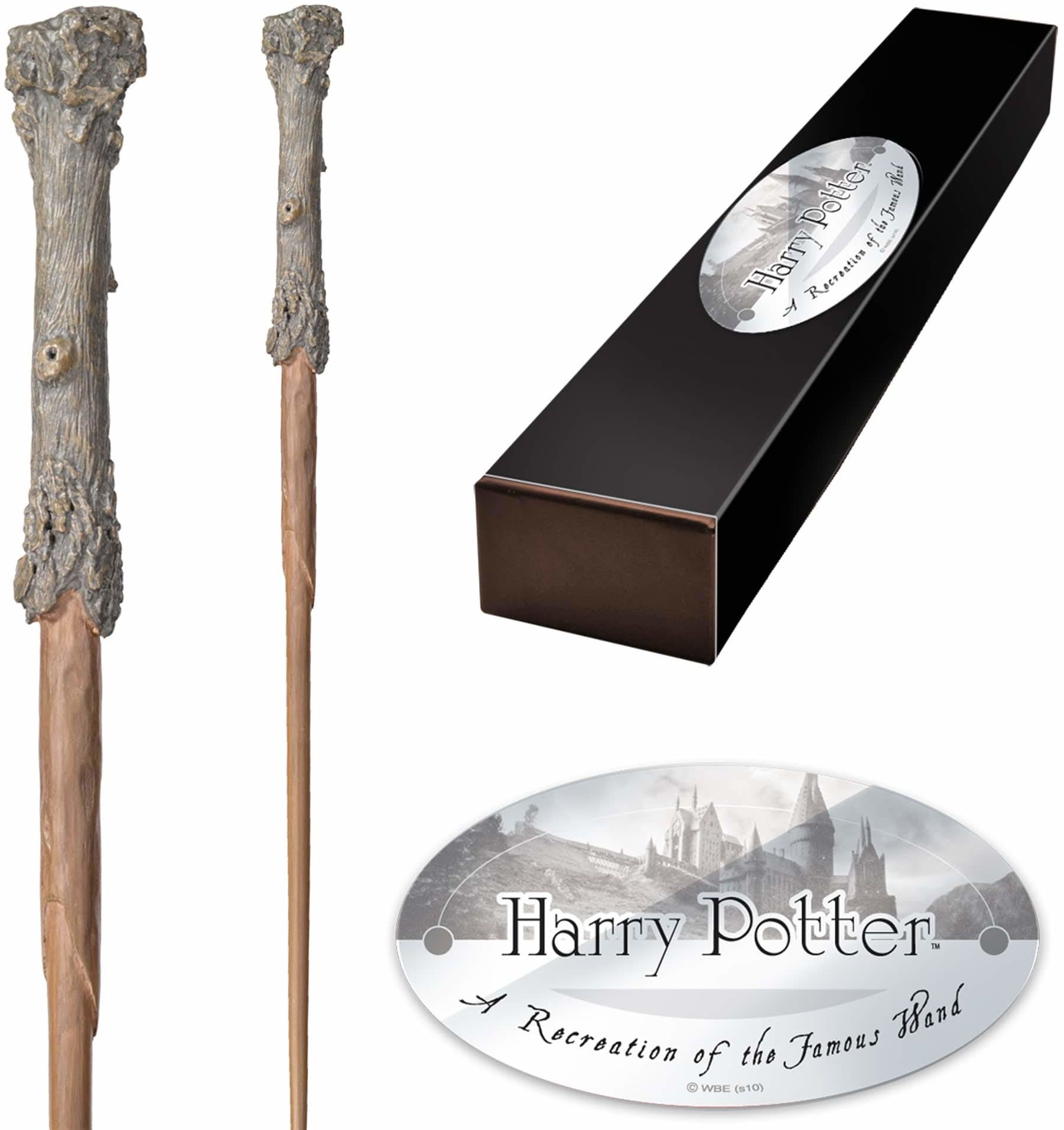 The Noble Collection - Harry Potter Character Wand - 14in (35.5cm) High Quality Harry Potter Wand With Name Tag - Harry Potter Film Set Movie Props Wands
