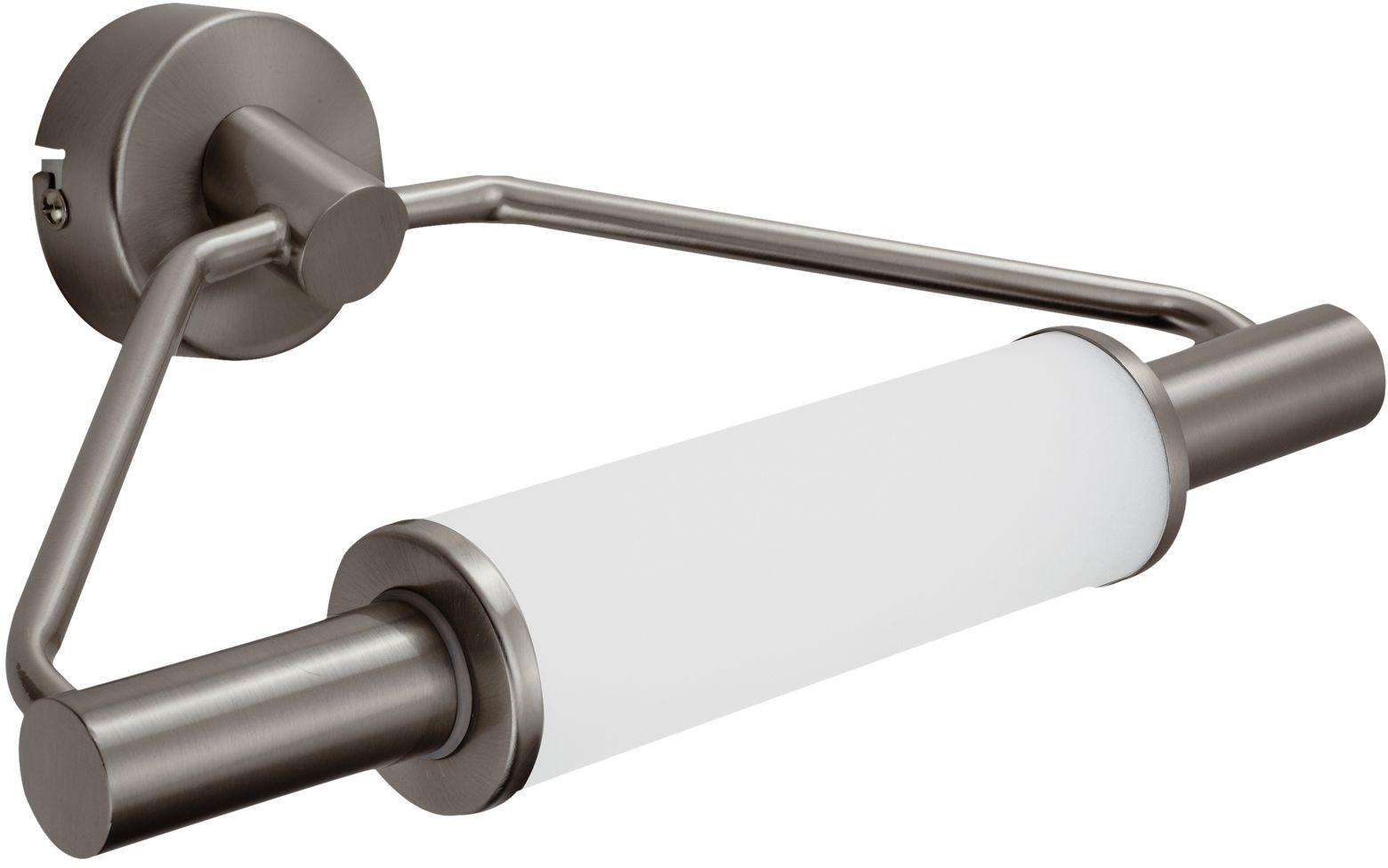 Candellux MAJOR 22-27842 kinkiet lampa ścienna satyna nikiel łazienkowa 2X40W G9 29cm IP44