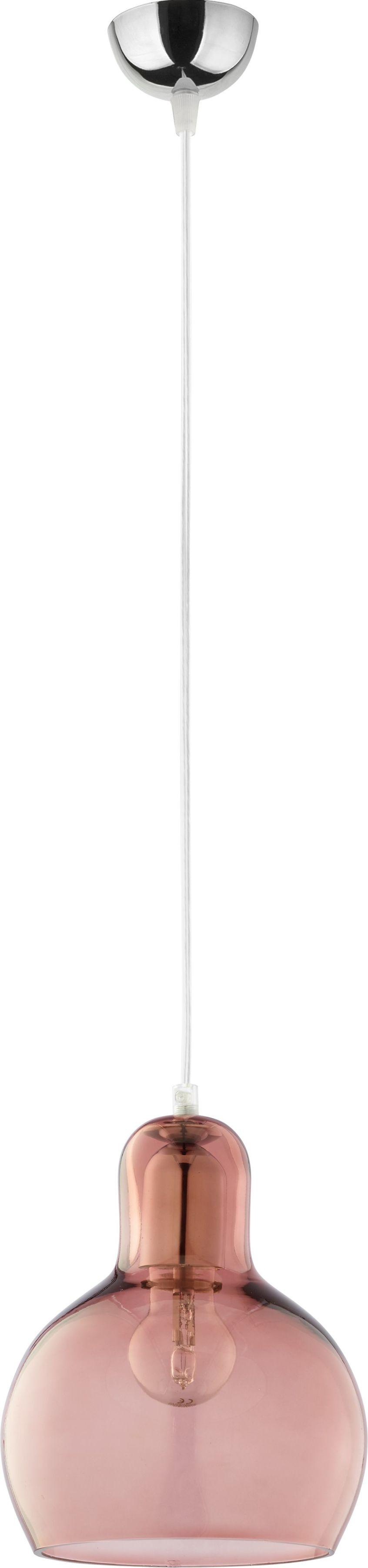 Mango lampa wisząca 1-punktowa różowa 588
