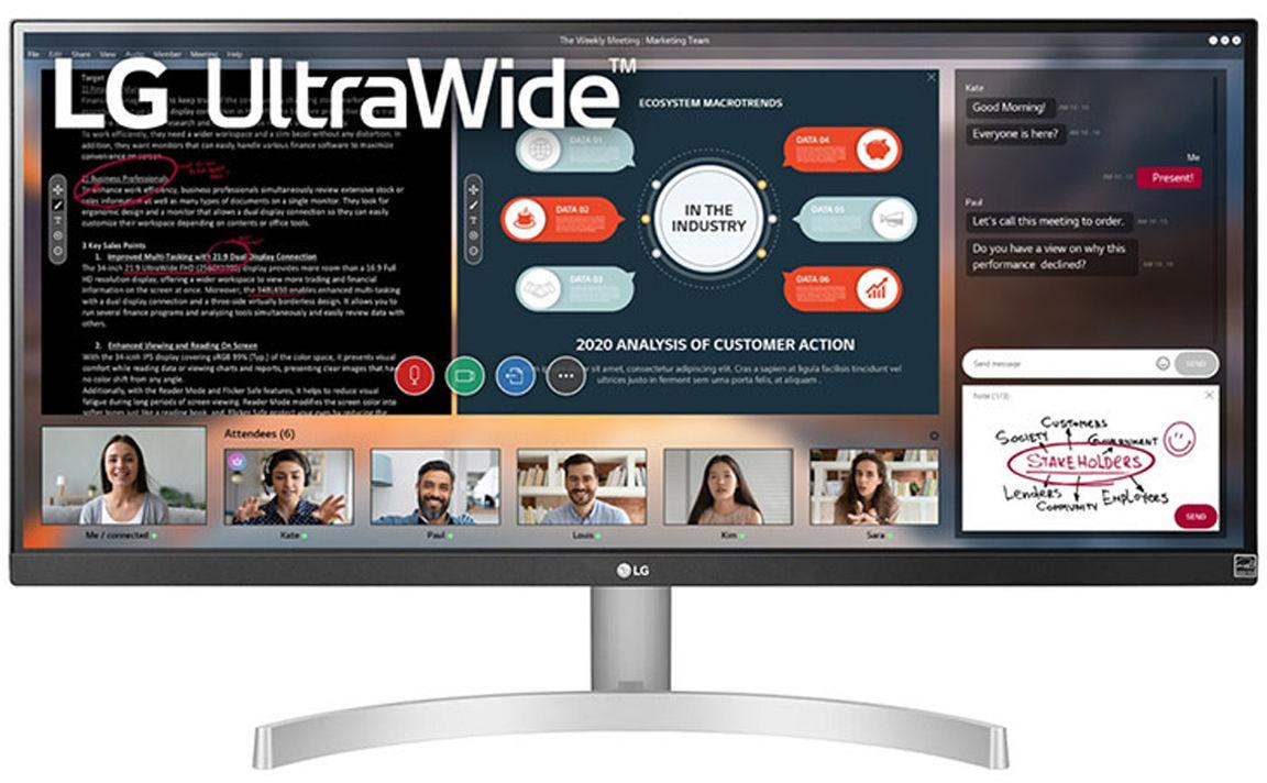 "LG 29WN600-W monitor komputerowy 73,7 cm (29"") 2560 x 1080 px"