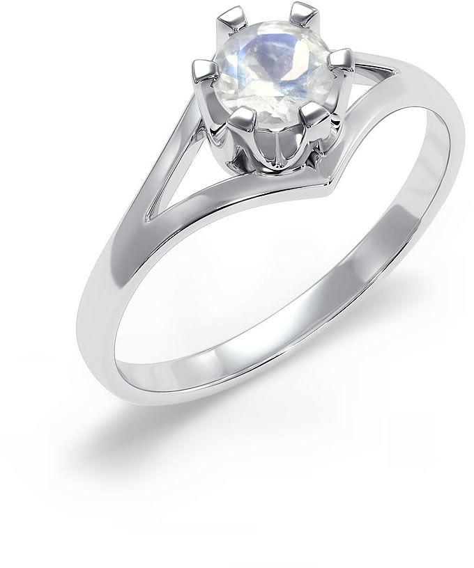 Kuźnia Srebra - Pierścionek srebrny, Kamień Księżycowy, 2g, model