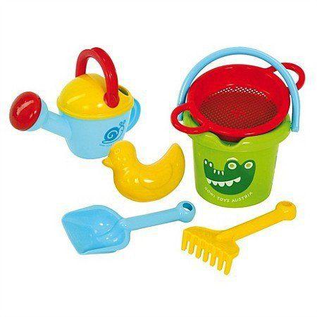 Zestaw do zabawy na świeżym powietrzu, Wiaderko z konewką i foremką Kaczucha, GW55836-Gowi, zabawki do wody, zabawki do piaskownicy