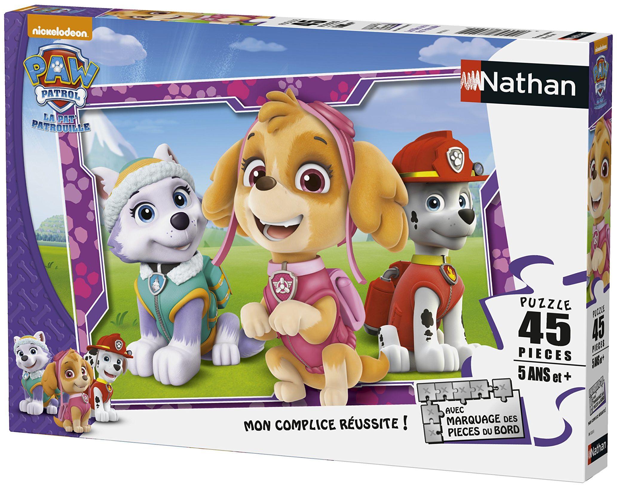 Nathan 86533 Puzzle  Dziewczynki Patrouille  45-częściowy
