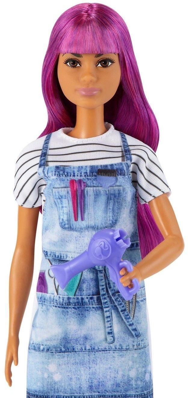 Barbie I can be Kariera Lalka Fryzjerka GTW36