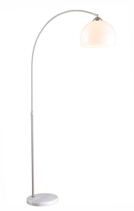 Globo lampa podłogowa Newcastle 58227 Marmur, Tworzywo sztuczne białe, z regulacją wysokości