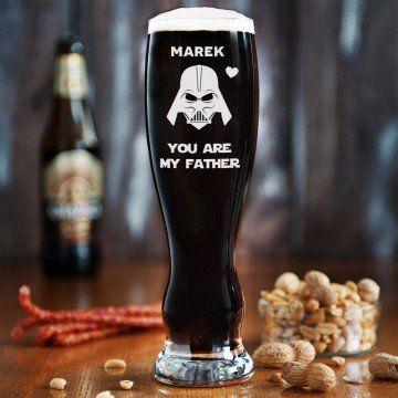 Vader dad - Grawerowana Szklanka do piwa