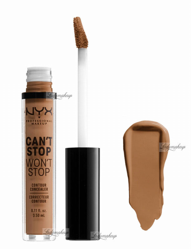 NYX Professional Makeup - CAN''T STOP WON''T STOP- CONCEALER - Korektor w płynie - MAHOGANY