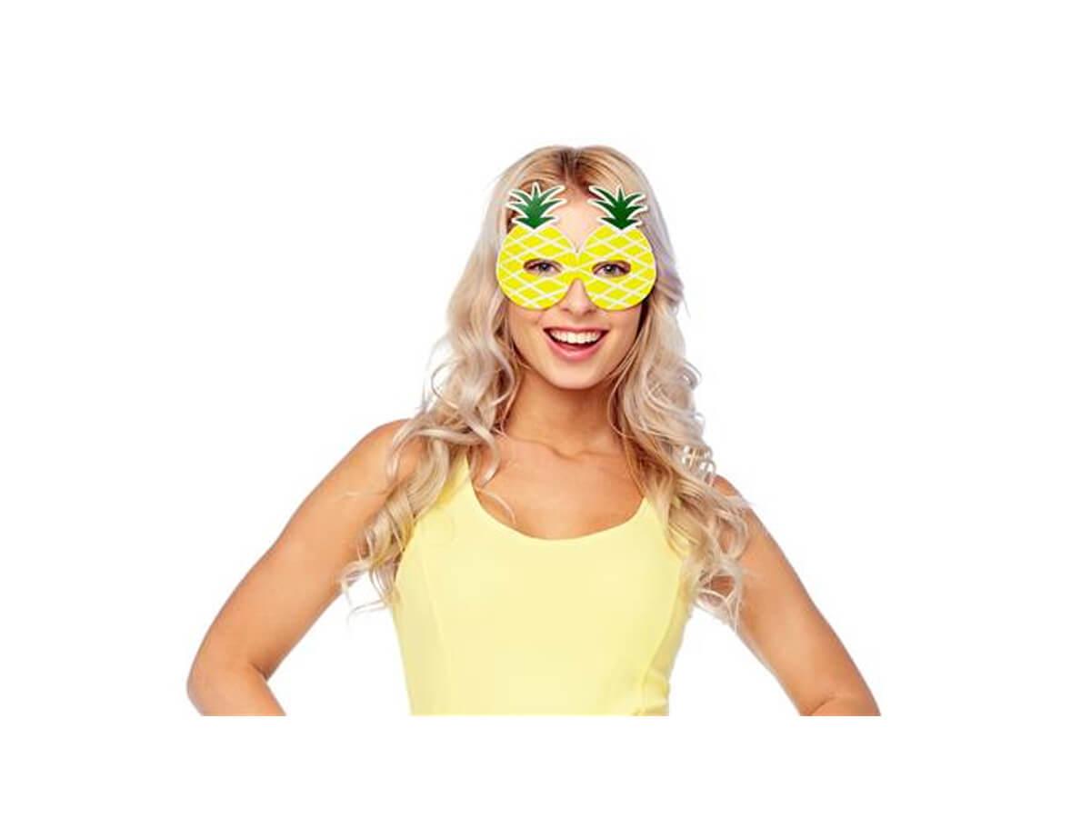 Maski Papierowe Słodki Ananas - 6 szt.