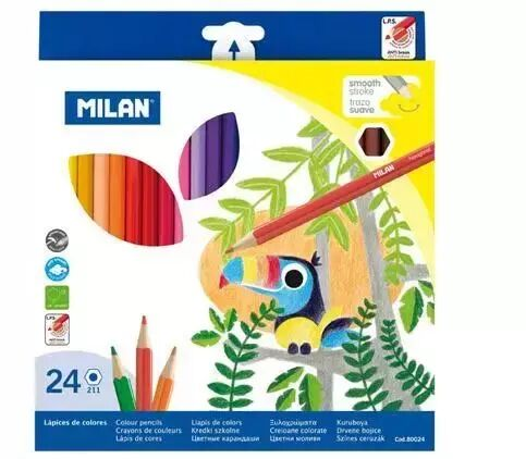 Kredki szkolne 24 kolory MILAN