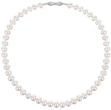 MISAKI Naszyjnik z białych naturalnych pereł kolia