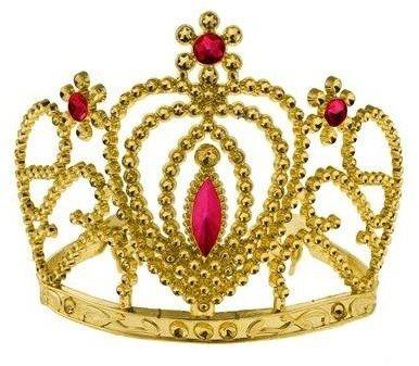 Diadem z rubinami, złoty DIRUB-YH
