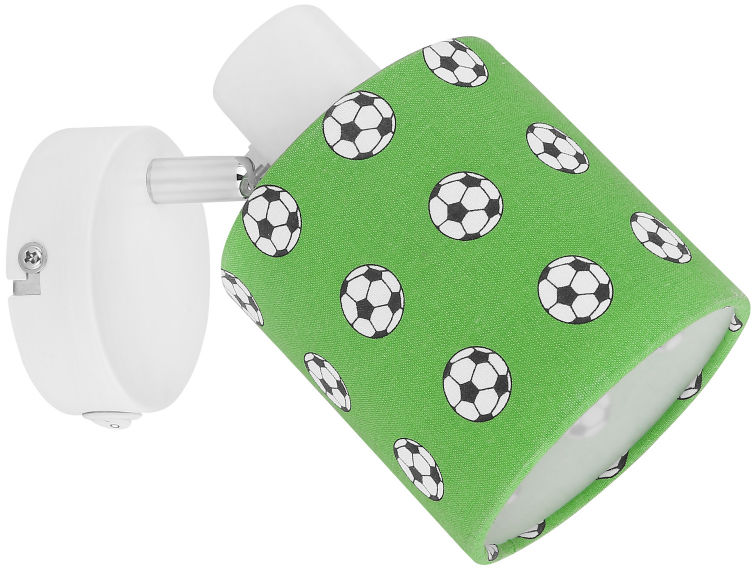 Globo LEMMI 54009-1 kinkiet lampa ścienna biało-zielona dekor piłka nożna 1xE14 40W 14,5cm