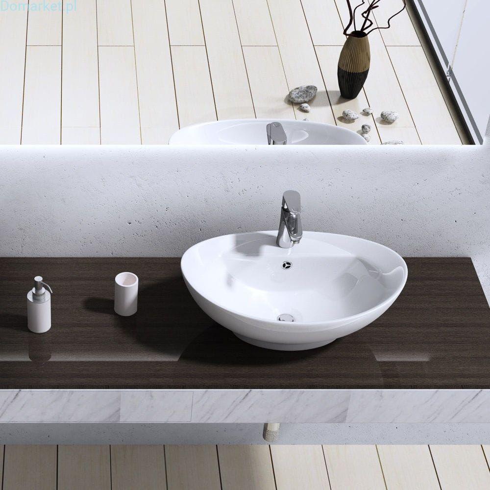 Umywalka C302 Nablatowa Ceramiczna 60cm