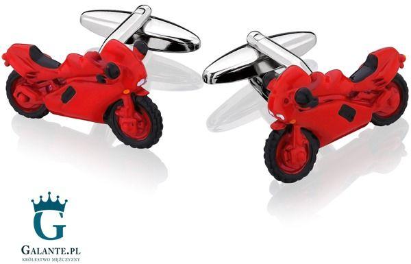 Spinki do mankietów czerwony motor sd-1460