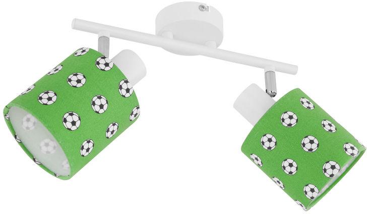 Globo LEMMI 54009-2 spot oprawa oświetleniowa biało-zielona dekor piłka nożna 2xE14 40W 45,5cm
