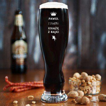 Książę z bajki - Grawerowana Szklanka do piwa
