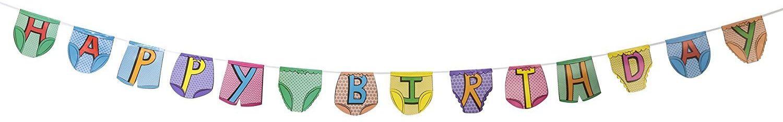 Tobar 28322 spodnie imprezowe chorągiewki - szczęśliwych urodzin, mieszane