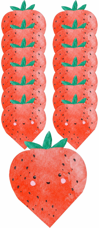 Talking Tables Strawberry papierowe miski koktajlowe 12 cm, składane, 16 sztuk w zestawie