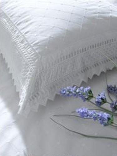 Balmoral haftowana poszewka na poduszkę dla gospodyni domowa para luksusowych perkalów poszewka na poduszkę pościel, biała