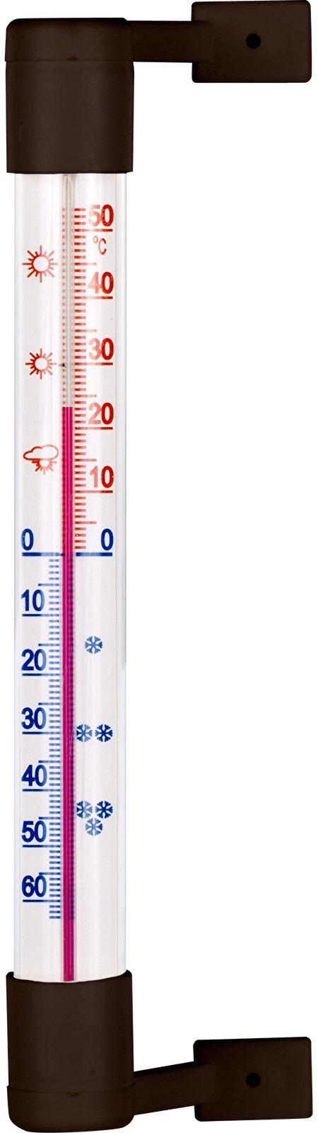 Termometr zewnętrzny brązowy
