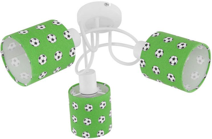 Globo LEMMI 54009-3 plafon lampa sufitowa biało-zielona dekor piłka nożna 3xE14 40W 40cm