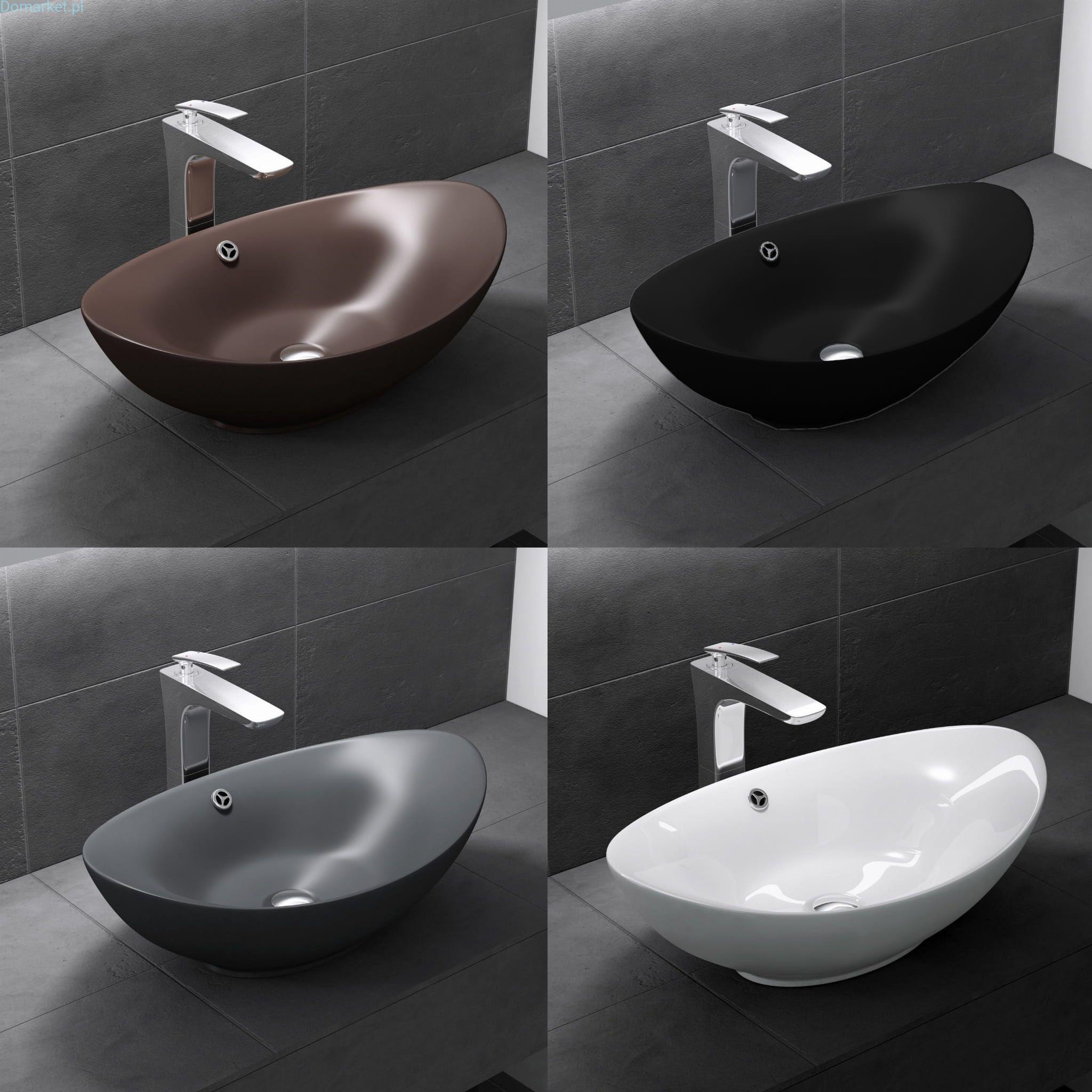 Umywalka C818 Nablatowa Ceramiczna POŁYSK / MAT 60cm