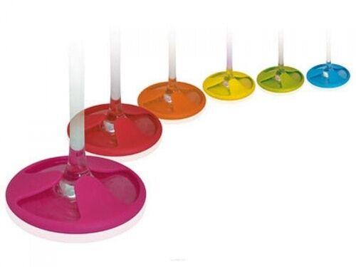 Kolorowe silikonowe podstawki pod kieliszki 6 sztuk marki Vin Bouquet FIA 028