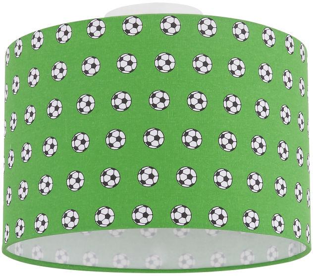 Globo LEMMI 54009D plafon lampa sufitowa biało-zielona dekor piłka nożna 1xE27 60W 25cm