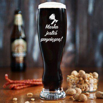 Jesteś zwycięzcą - Grawerowana Szklanka do piwa