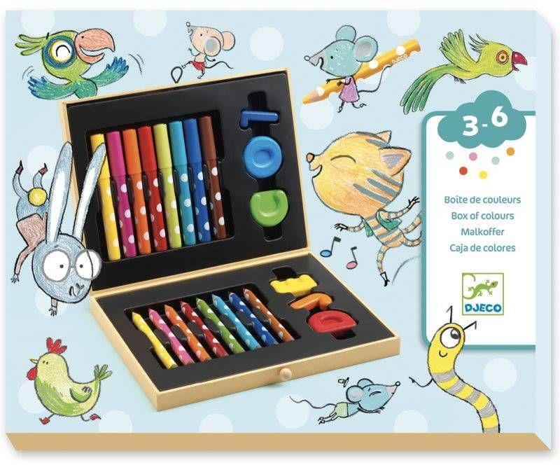 Zestaw dla maluchów- kredki, mazaki DJ09010-Djeco, wyprawka do szkoły