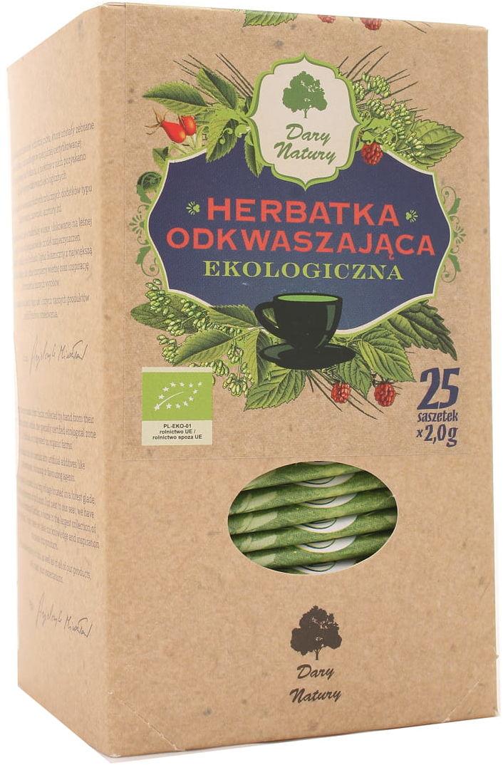 Herbatka odkwaszająca BIO - Dary Natury - 25 saszetek