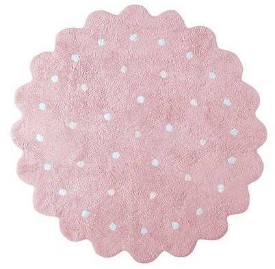 Dywan bawełniany do prania w pralce galletita rosa/pink, lorena canals ø 140 cm