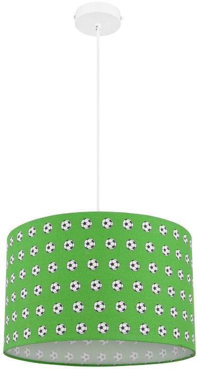 Globo LEMMI 54009H lampa wisząca biało-zielona dekor piłka nożna 1xE27 60W 25cm