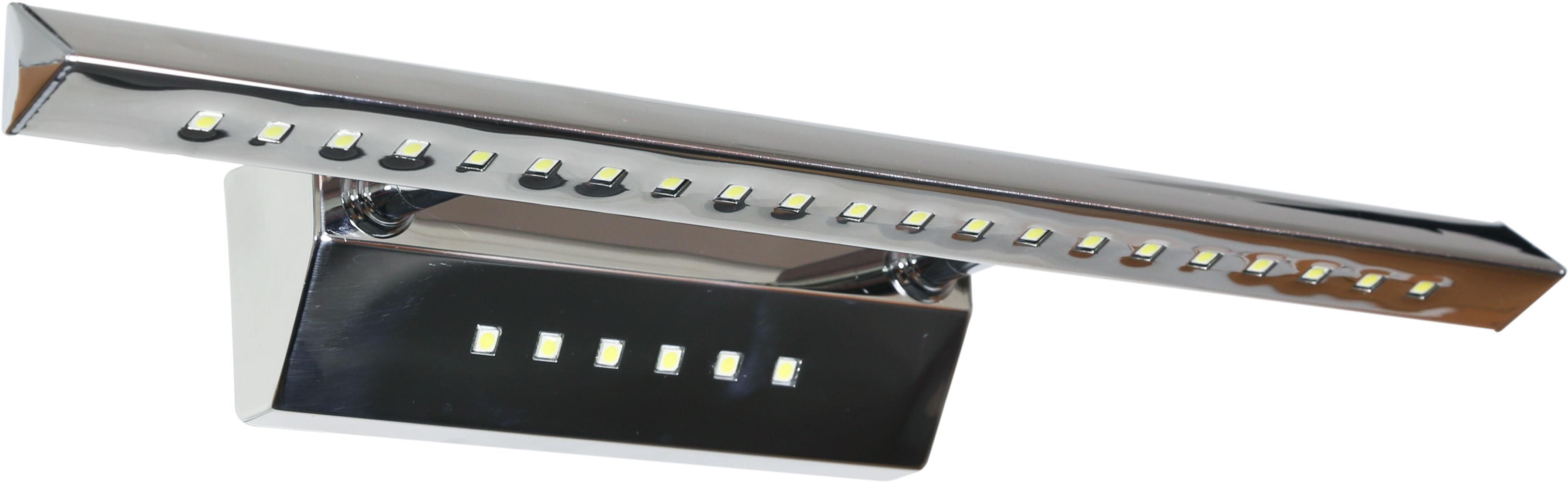 Candellux FORTE LED 3 20-27030 kinkiet lampa ścienna rurka trójkątna z wyłącznikiem chrom 7W LED 40,5cm