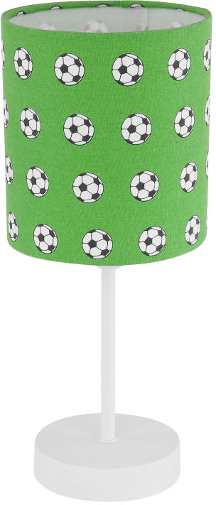 Globo LEMMI 54009T lampa stołowa zielono-biała dekor piłka nożna 1xE14 40W 70cm