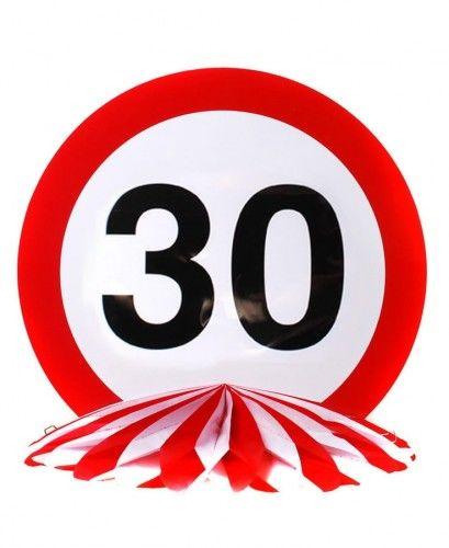 Dekoracja stołu na 30 urodziny Znak