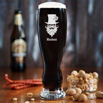 Leprechaun on - Grawerowana Szklanka do piwa