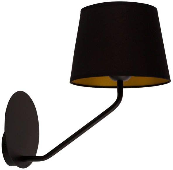 Nowoczesna lampa ścienna LIZBONA KINKIET czarny/miedziany 32113
