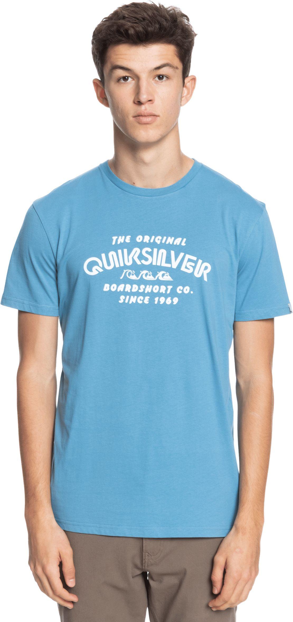 t-shirt męski QUIKSILVER WIDER MILE TEE Blue Heaven - BLF0