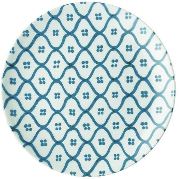 Guzzini - tiffany - talerz deserowy le maioliche, niebieski - niebieski