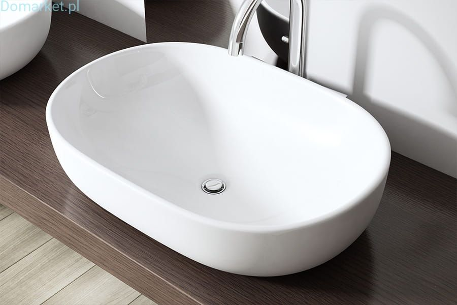 Umywalka C322 Nablatowa Ceramiczna 60cm